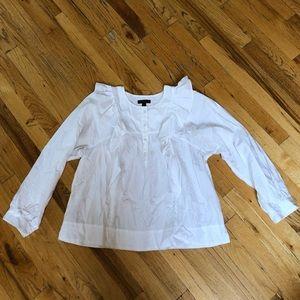 J.Crew White Blouse Size 10